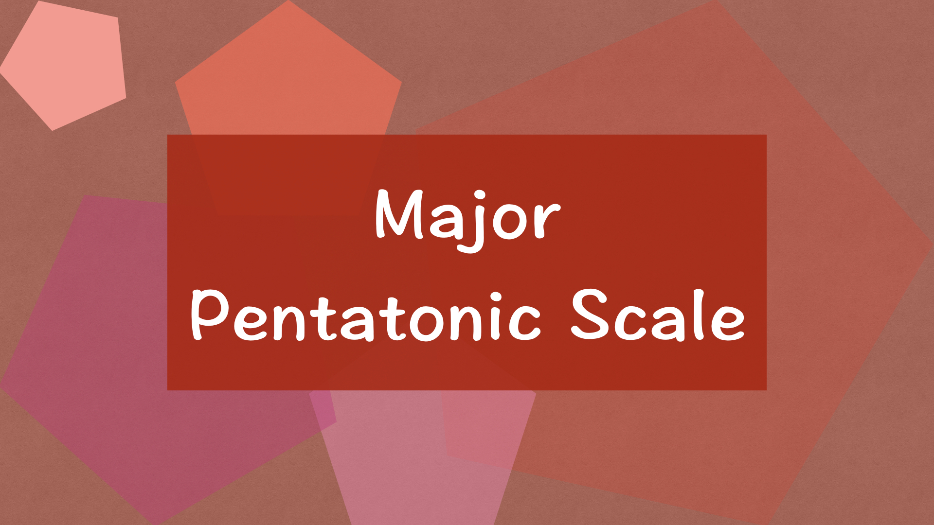 major pentatonic