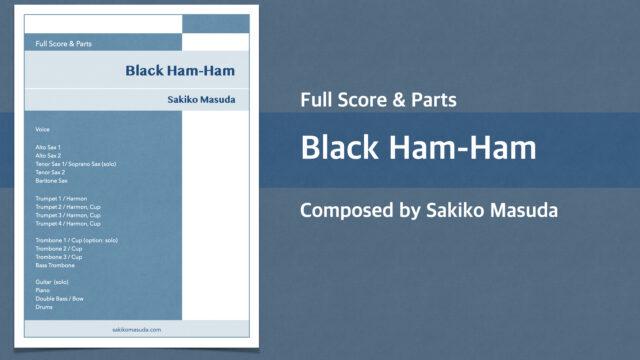 Black Ham-Ham【Big Band オリジナル楽譜】