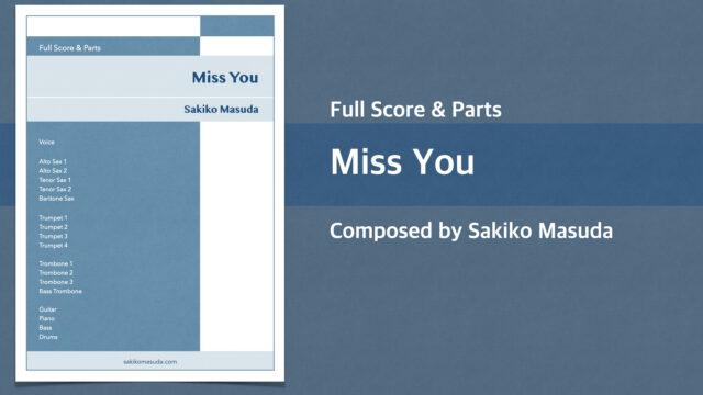 Miss You【Big Band オリジナル楽譜】