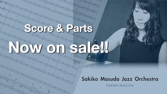 スコア&パート譜が発売!【Sakiko Masuda Jazz Orchestra】